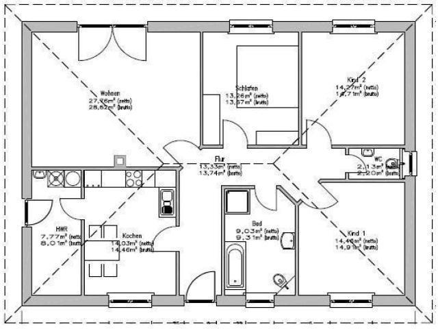 haus kaufen stralsund bauen sie ihr eigenes massivhaus bungalow 117 bauangebot ohne. Black Bedroom Furniture Sets. Home Design Ideas